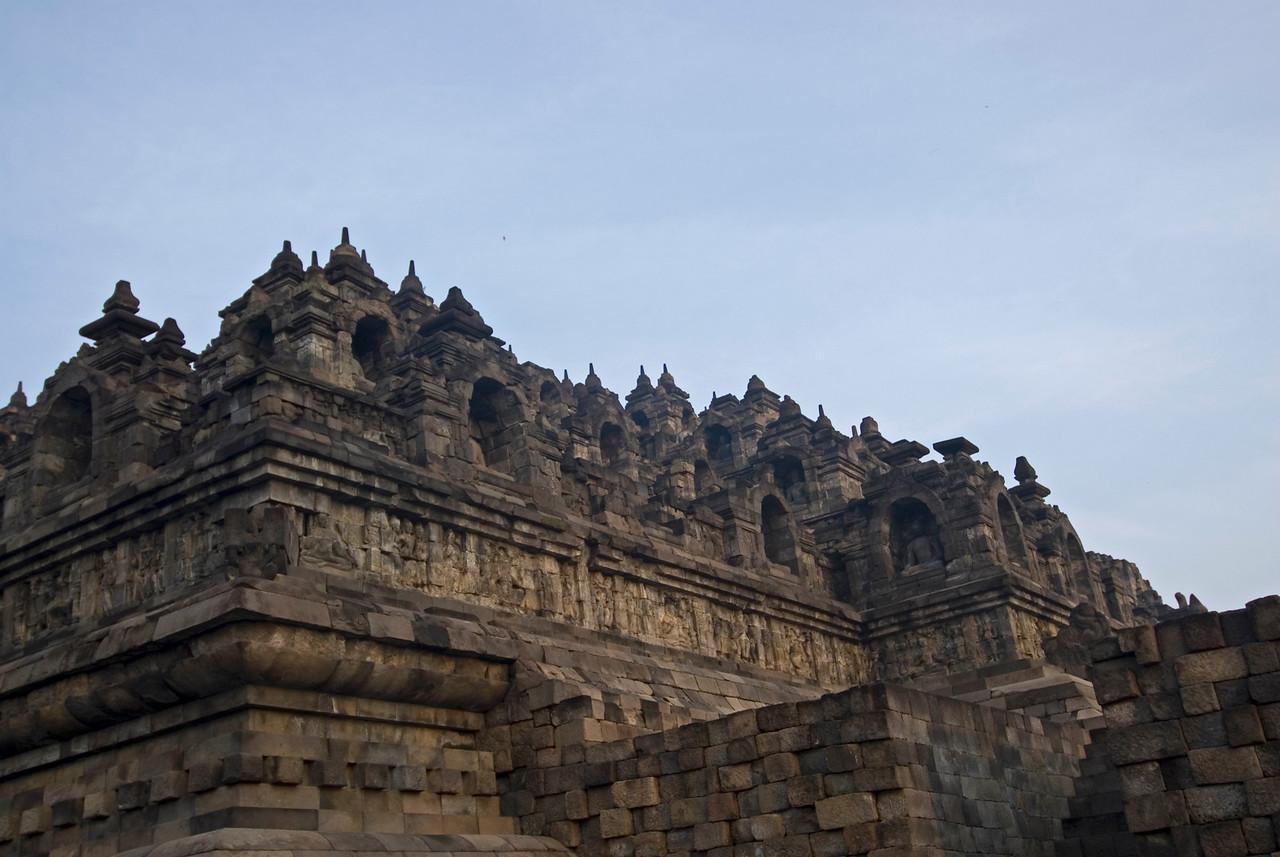 More details of the Borobudur temple in Java, Indonesia