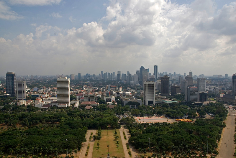 Another perspective of skyline in Jakarta, Indonesia