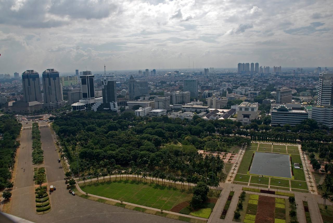 Beautiful skyline at Jakarta in Indonesia