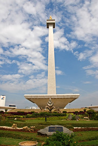 National Monument and Flower Garden in Jakarta, Indonesia