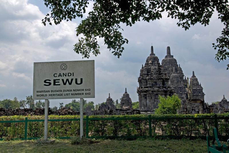 Candi Sewu Temple at Prambanan complex in Java, Indonesia