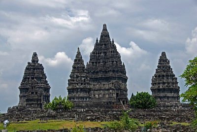 Beautiful towers at Prambanan in Jakarta, Indonesia