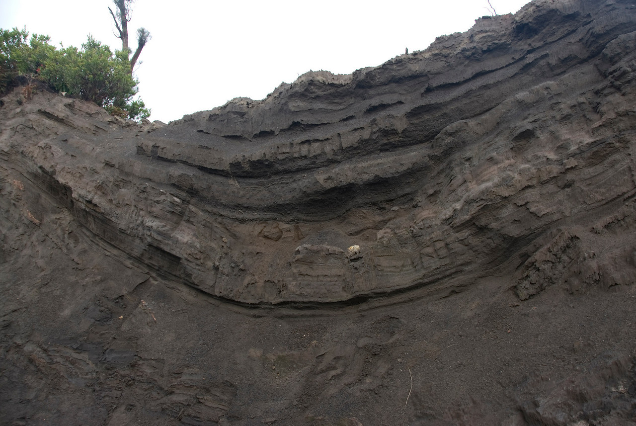 Shot of a Cross Section in Mount Bromo in Java, Indonesia