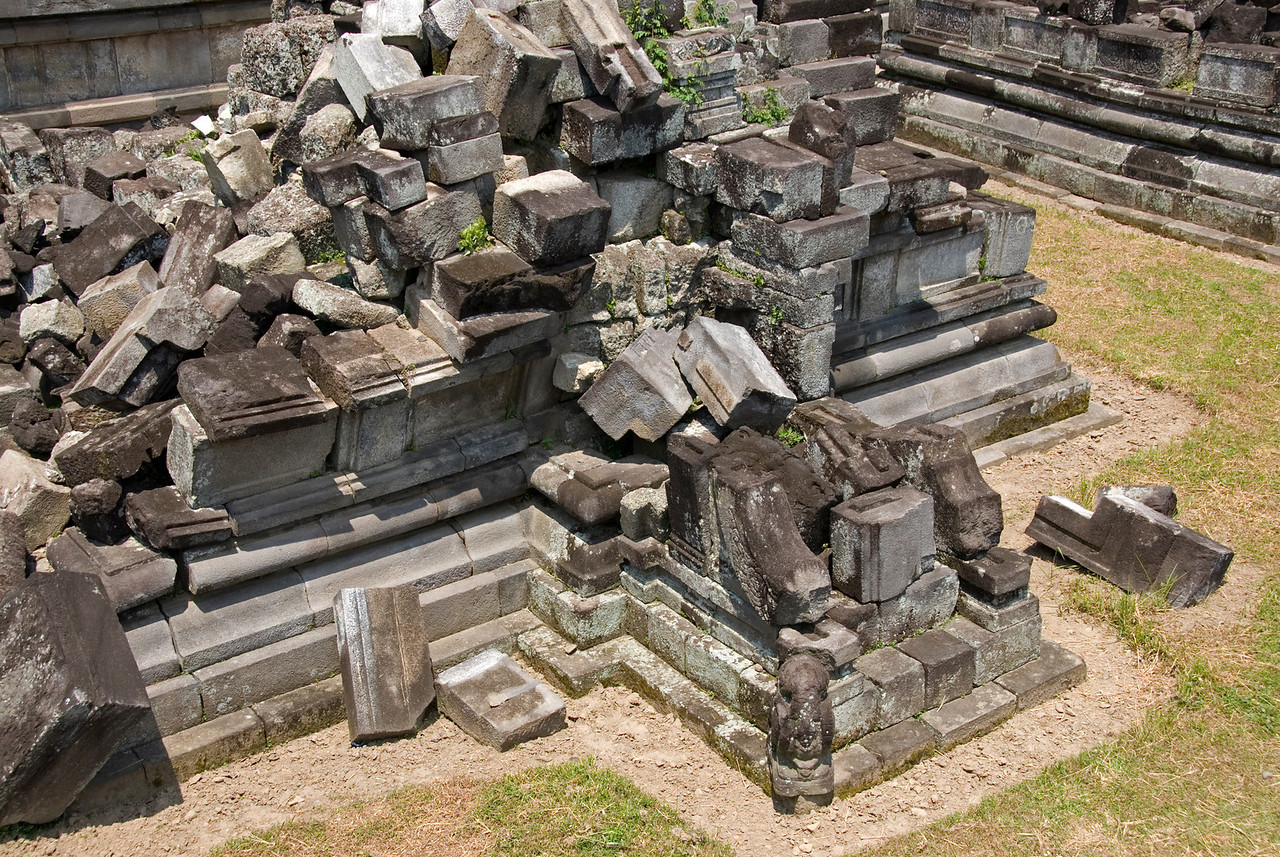 Shot of the ruins in Prambanan complex in Java, Indonesia