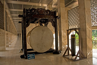 Drum at National Mosque in Jakarta, Indonesia