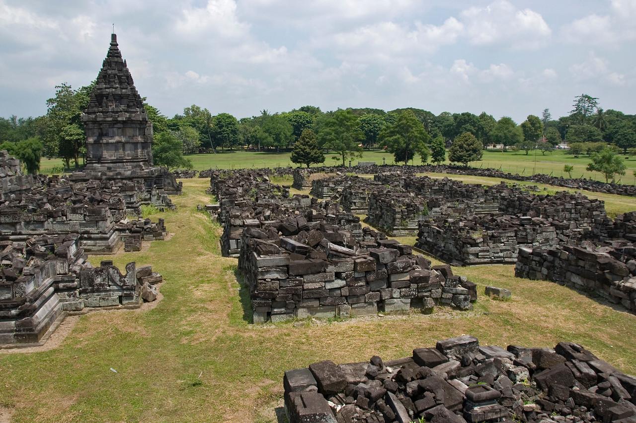 Shot of the ruins at Prambanan in Java, Indonesia