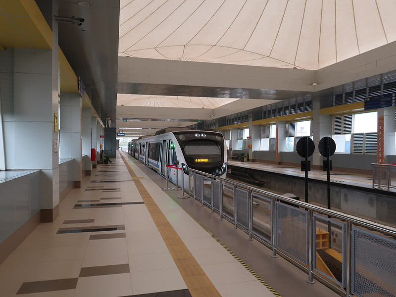 LRT station at Palembang Airport