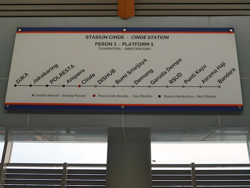 LRT stations on route map