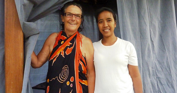Ketut (girl - 2nd born!) - one of the best massage therapists in UBUD