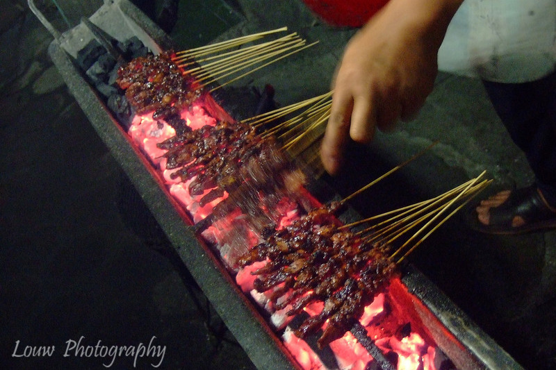 Sate Ayam (chicken satay), Yogyakarta, Indonesia