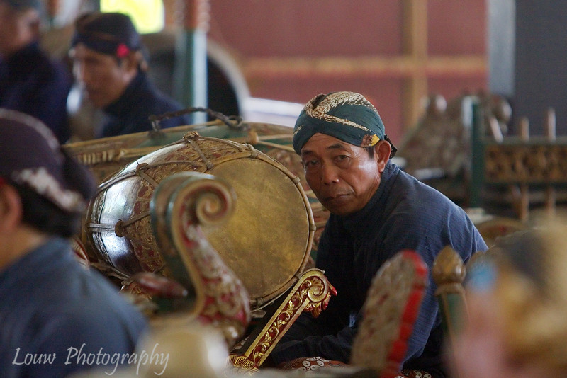 Musician at the Sultan's Palace (Kraton), Yogyakarta, Indonesia