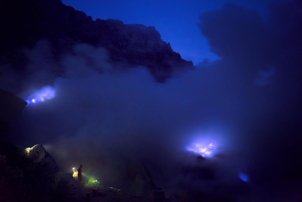 blue fire of Mount Ijen Volcano #intentionallylost