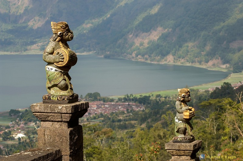 Mt Batur - Religious Icons<br /> <br /> Kintamani, Bali, Indonesia