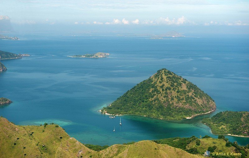 Aerial - Angel Is., Flores, Indonesia