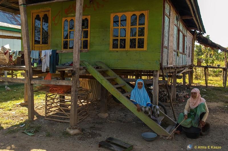 Muslim Women / Blind Woman<br /> Naga Na'e Village, Flores, Indonesia