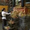 Hindu Full Moon Ceremony - Festival<br /> <br /> Candi Dasa, Bali, Indonesia