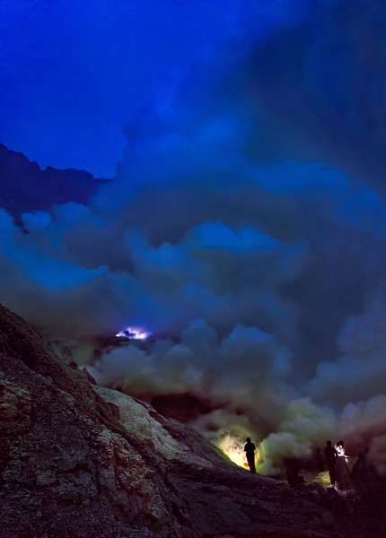 Fires of Ijen Sulfur Mine