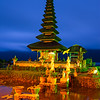 Ulun Danu temple before dawn