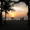 A sunset at Kuta Beach in Bali, Indonesia.