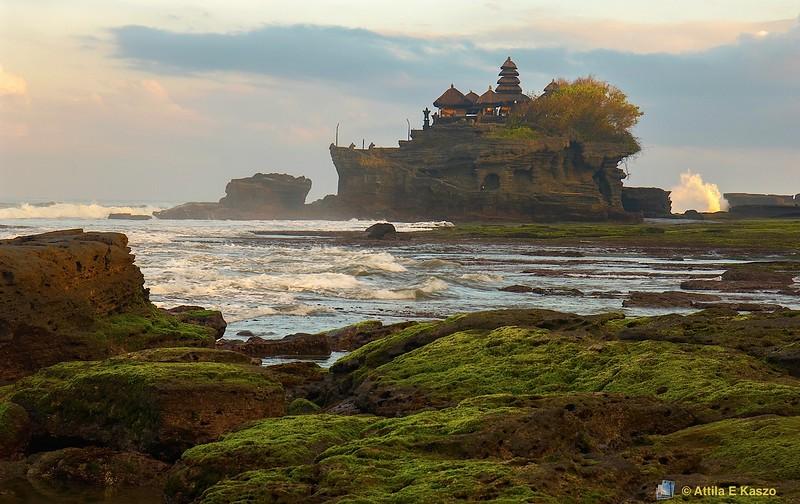 Hindu Temple - Sunrise<br /> <br /> Tanah-Lot, Bali, Indonesia