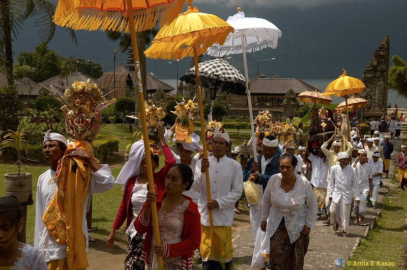 Cremation Ceremony - Lake Temple (Hindu)<br /> <br /> Bedugul, Bali, Indonesia