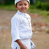 Balinese boy dressed up for a festival