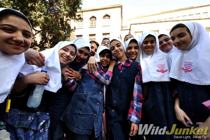 Friendly students in Tehran