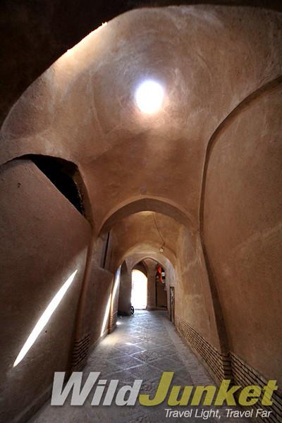 Mud-brick alleys of Yazd