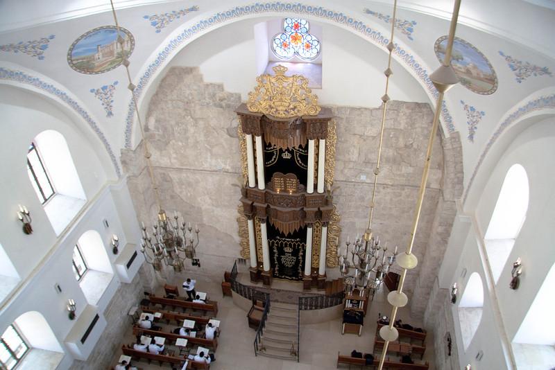 Interior of the Hurva Synagogue.
