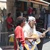 Entertainer at the Mehane Yedhuda market.