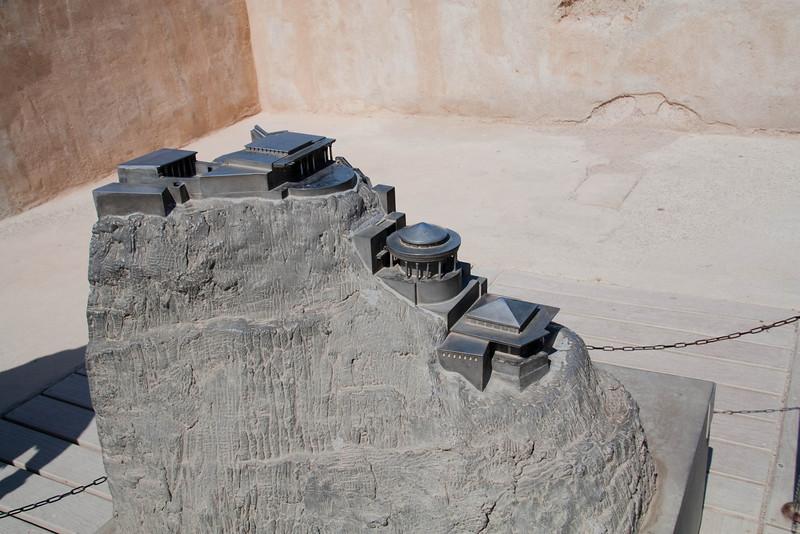 Model of Masada, originally a palace of King Herod