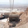 Cable car up Masada