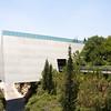 Yad Vashem musueum ends with a view of Jersusalem