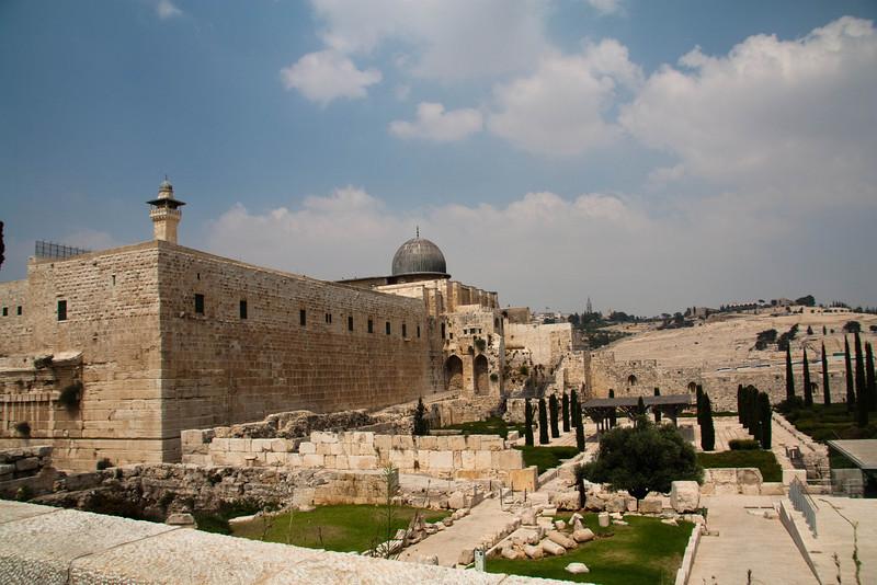 Southwestern corner of the Temple Mount.