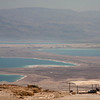 The Dead Sea as seen from Masada is drying up. On the other side, Jordan.
