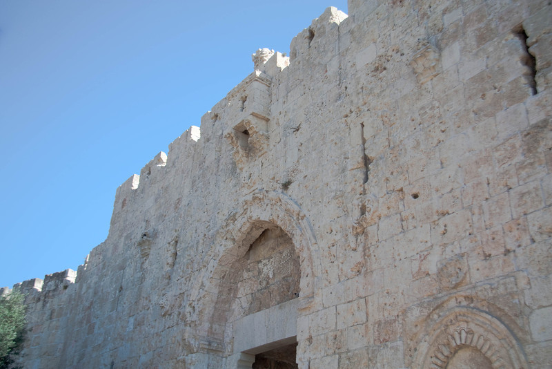 Zion gate, one of 11 gates in the Old City of Jerusalem