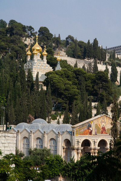 The Church of all Nations and the Church of Mary Magdalene.