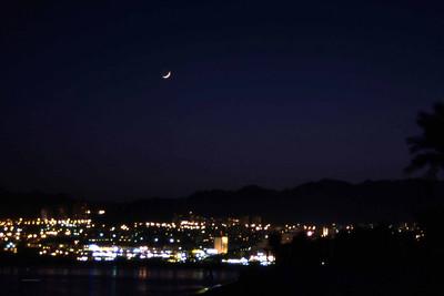 Eilat by Night. egentlig et ganske så dårlig bilde. Men det er nå en gang et by night-bilde. (Foto: Geir)