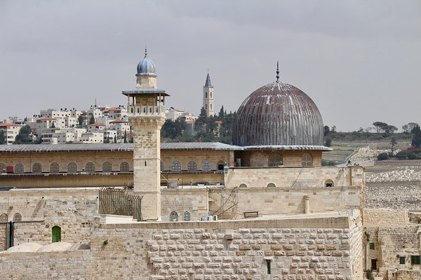 Al-Aqsa Mosque (Church of Ascension in the background)