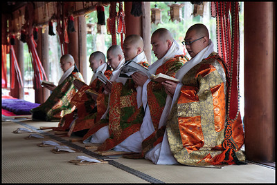 Monks at Danjo Garan