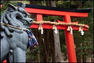 At Sumiyoshi temple