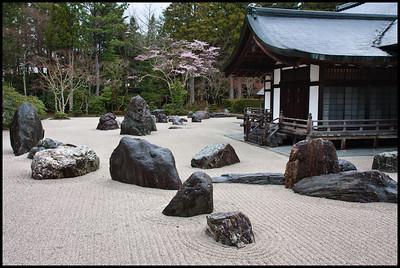 Rock garden at Kongobu-ji, Koyasan