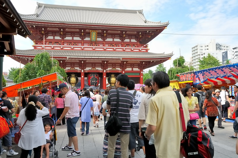 Entering Sensoji Temple