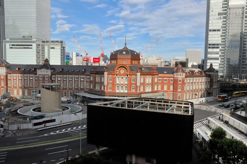 Tokyo Main train station (completed 1914) has more than 400,000 passengers per day.