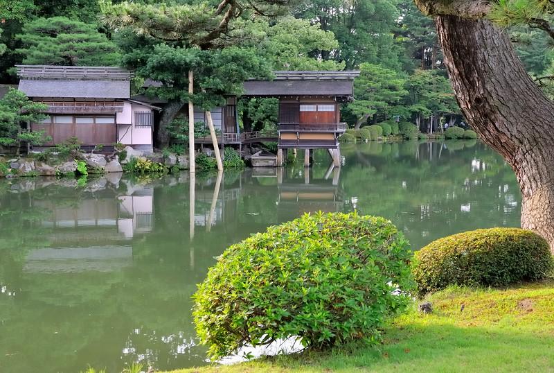 Teahouse in Kenroku-en Garden - One of Japan's three great gardens - Kanazawa, Japan