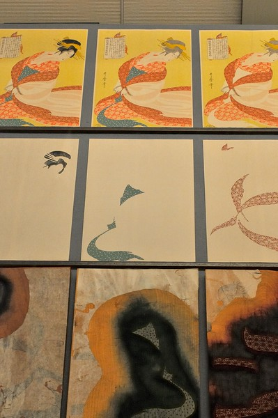 Stages in the manufacture of a woodblock print