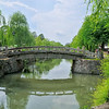 Footbridge over the canal - Kurashiki, Japan