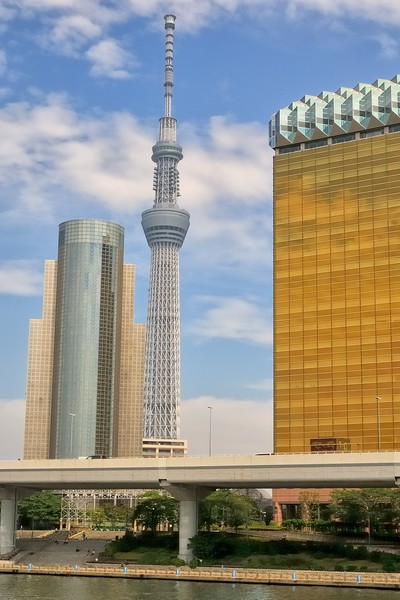 2080 ft. tall Tokyo Skytree, completed in 2011