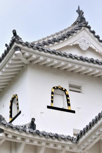 Detail of Himeji Castle roof tiling, Japan