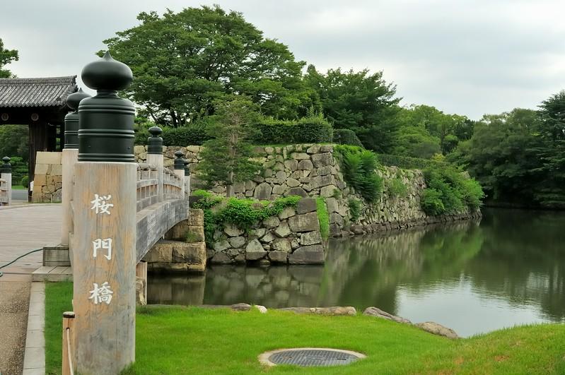 Entry bridge - Himeji Castle, Japan